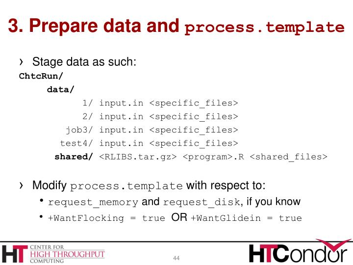 3. Prepare data and