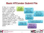 basic htcondor submit file