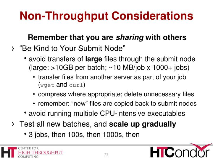 Non-Throughput Considerations