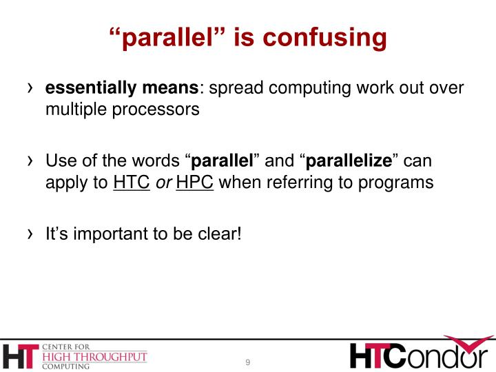 """parallel"" is confusing"