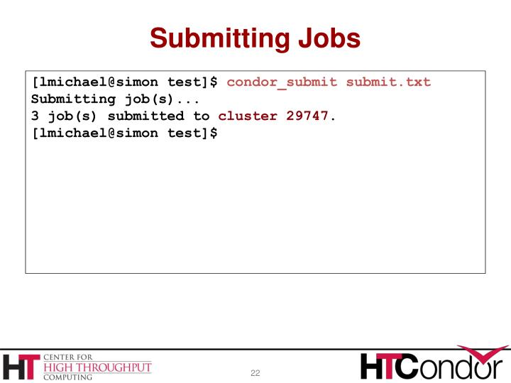 Submitting Jobs