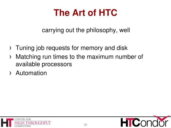 The Art of HTC