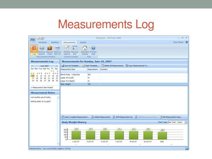 Measurements Log