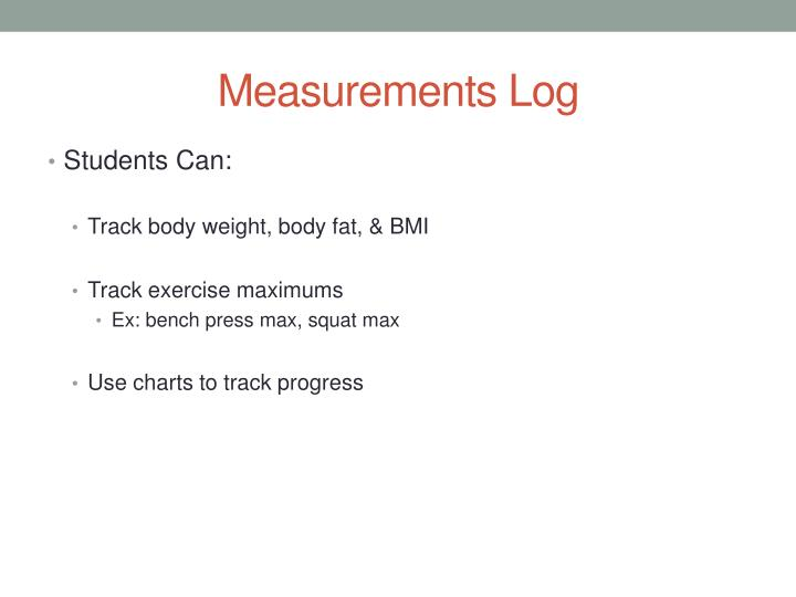 Measurements Log