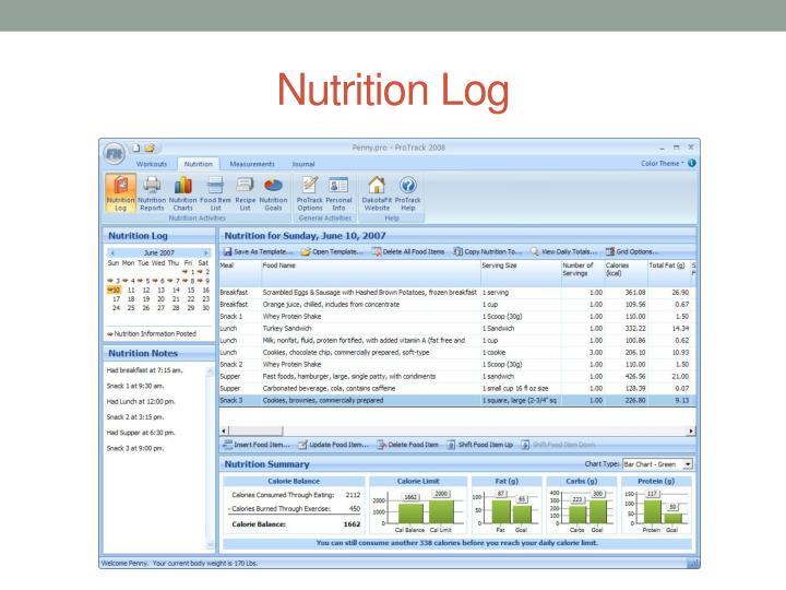 Nutrition Log