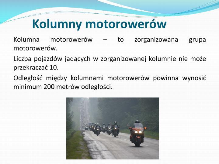 Kolumny motorowerów