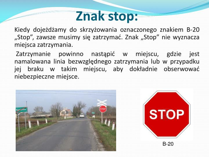 Znak stop: