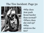 the tire incident page 50