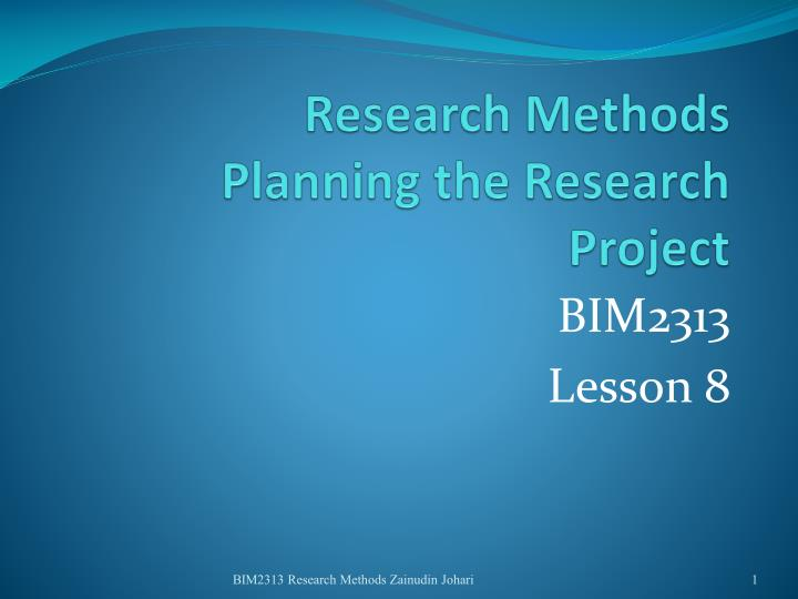 research methods and the use of