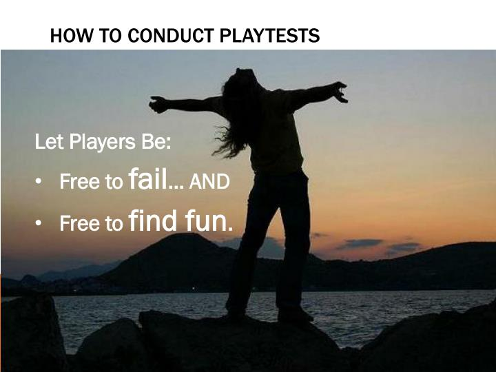 How to conduct playtests