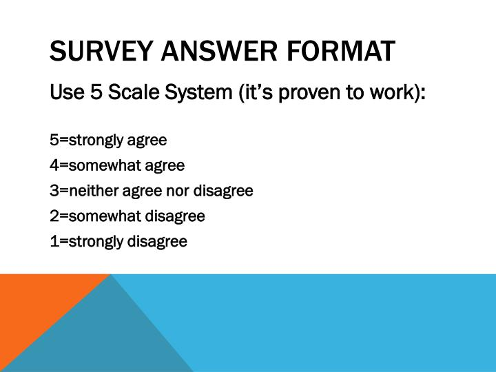 survey answer format