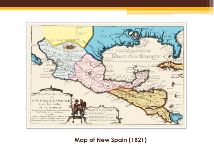 Map of new spain 1821