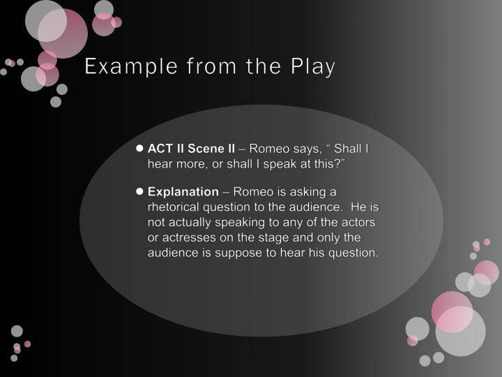 Example from the Play