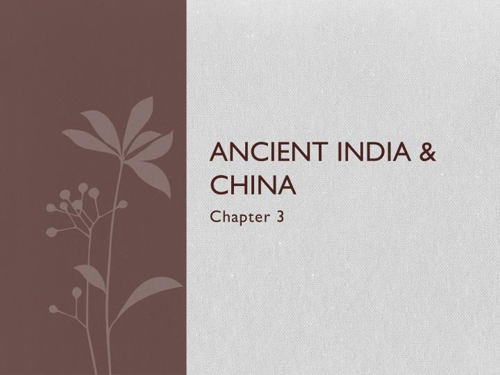 ancient india china