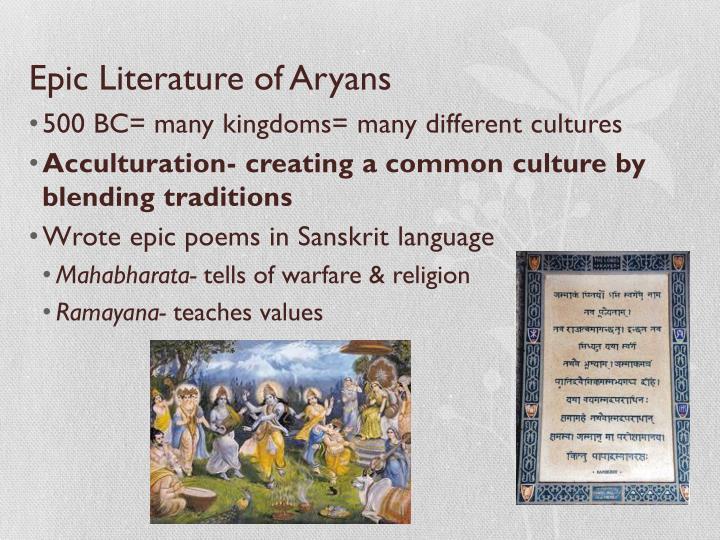 Epic Literature of Aryans