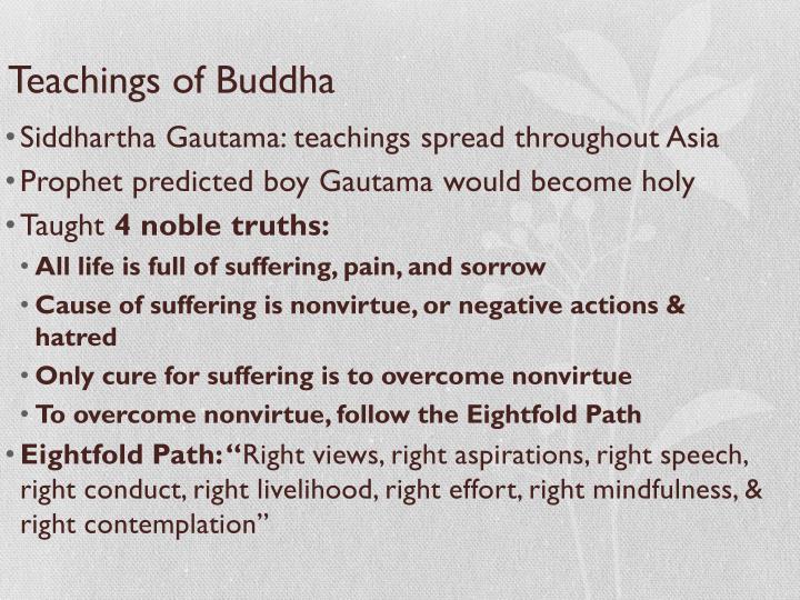 Teachings of Buddha