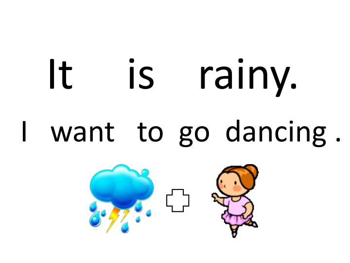 It     is    rainy.