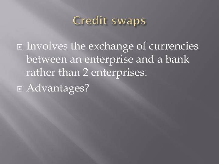 Credit swaps