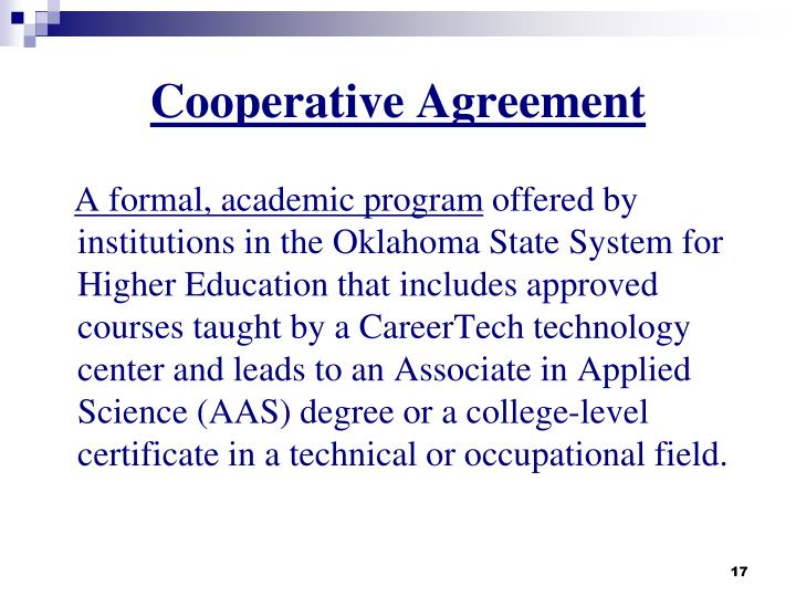 Cooperative Agreement