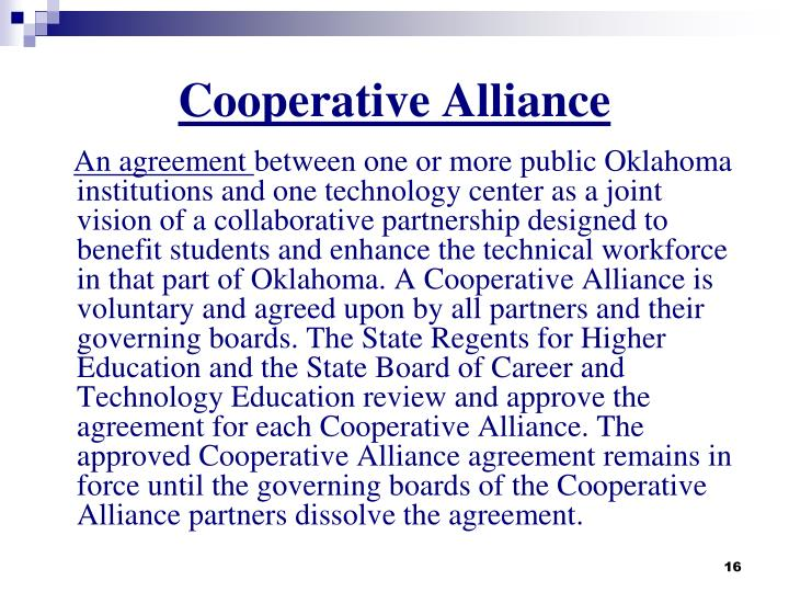 Cooperative Alliance