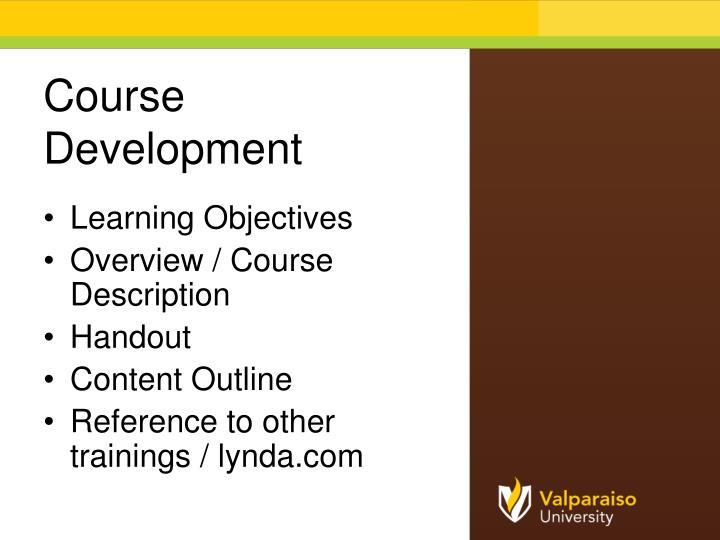 Course Development
