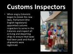 customs inspectors