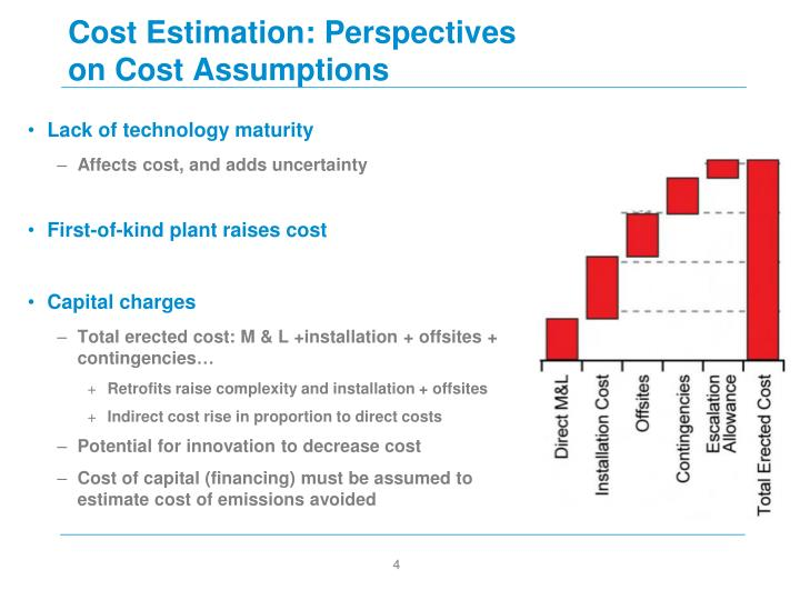 Cost Estimation: Perspectives on Cost Assumptions