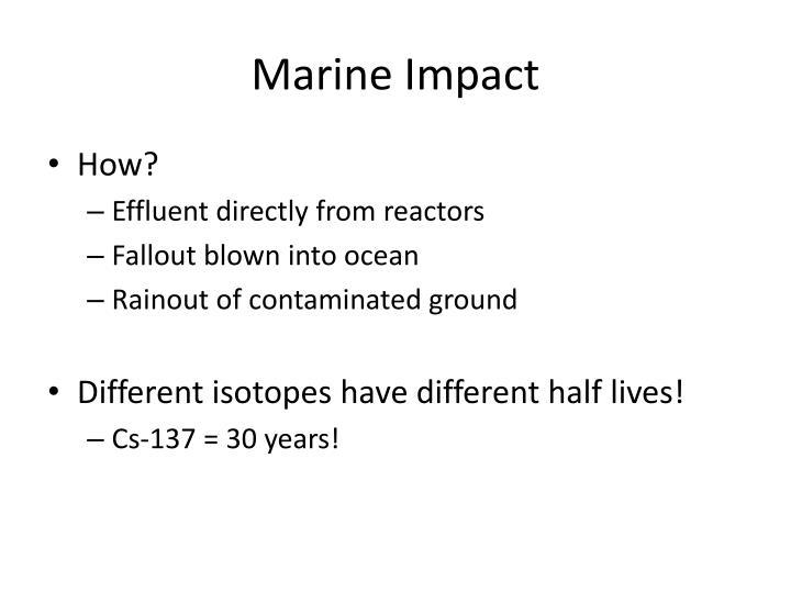 Marine Impact