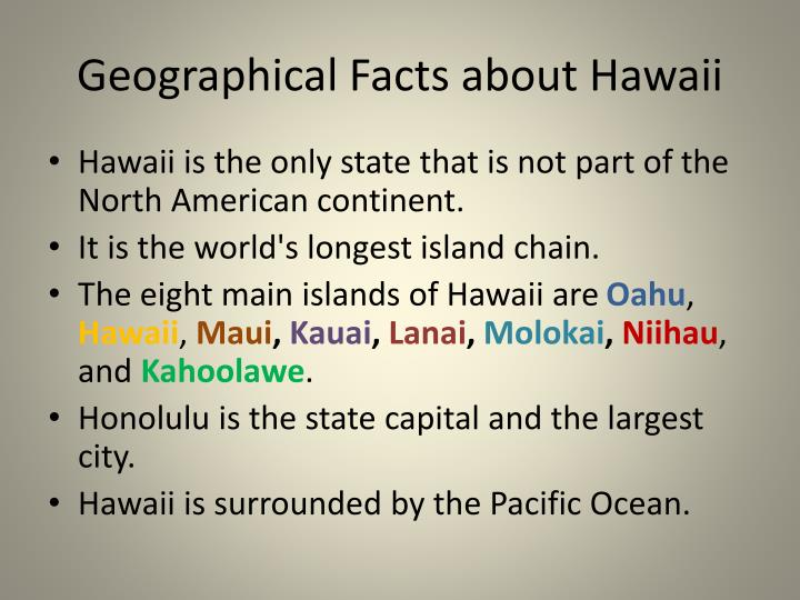 Geographical Facts about Hawaii