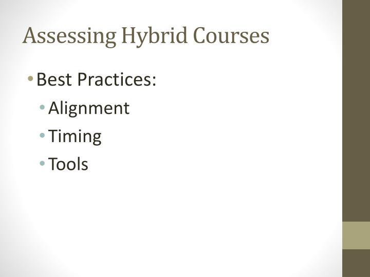 Assessing Hybrid Courses