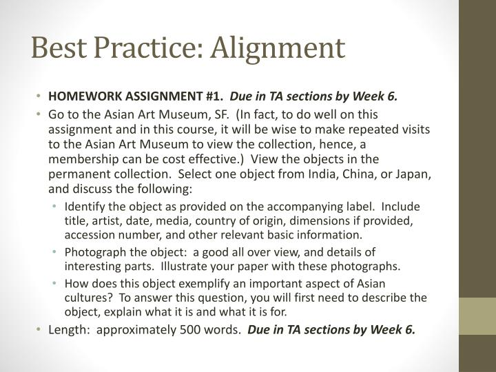 Best Practice: Alignment