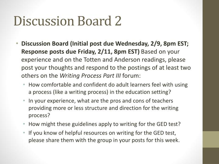Discussion Board 2