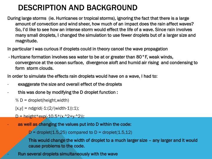 Description and Background