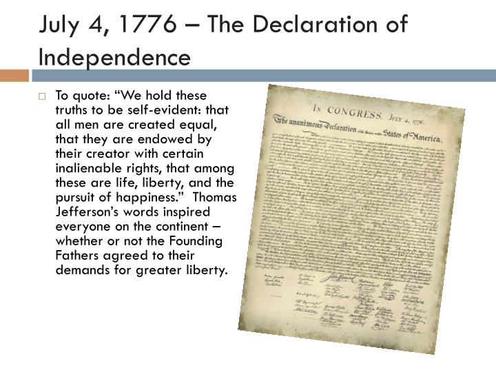 1776 declaration essay Declaration essay examples which ideal of the declaration of independence is the most important dbq our american government became independent from great britain, on july 4, 1776 there was a committee of five people.