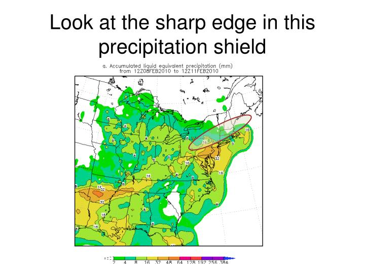 Look at the sharp edge in this precipitation shield