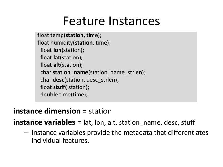 Feature Instances