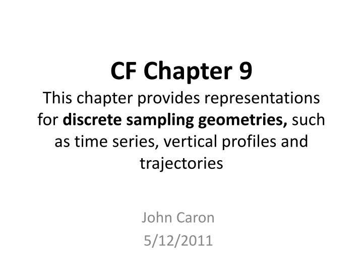 CF Chapter