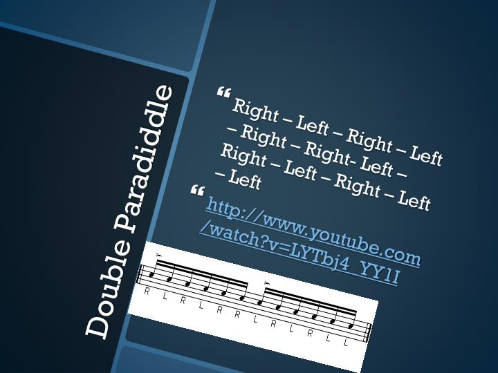 Right – Left – Right – Left – Right – Right- Left – Right – Left – Right – Left – Left
