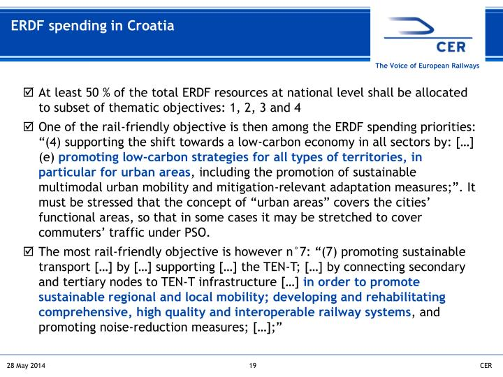 ERDF spending in Croatia