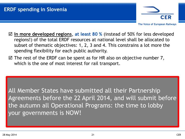 ERDF spending in Slovenia