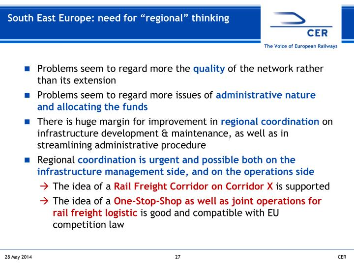 "South East Europe: need for ""regional"" thinking"