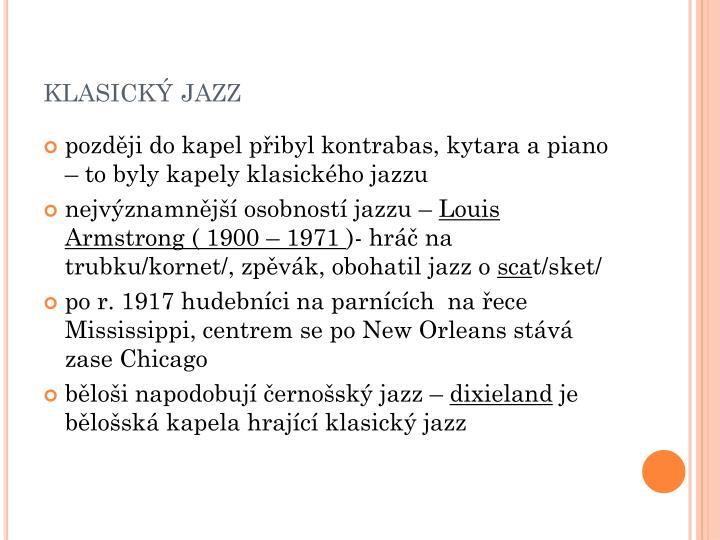 klasický jazz