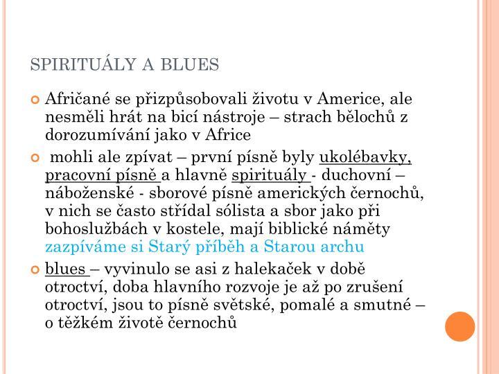 spirituály a blues