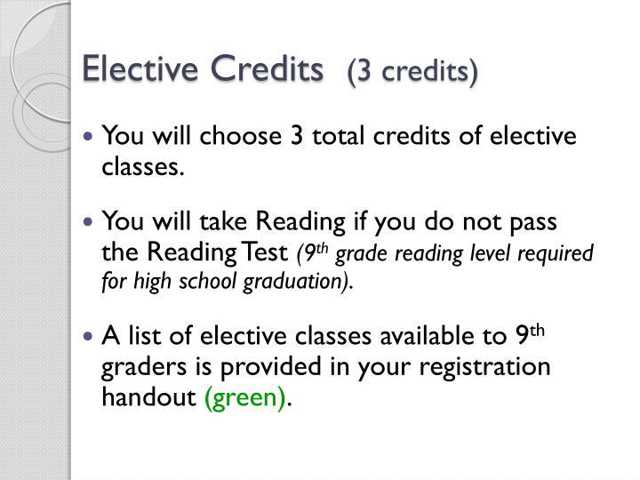 Elective Credits