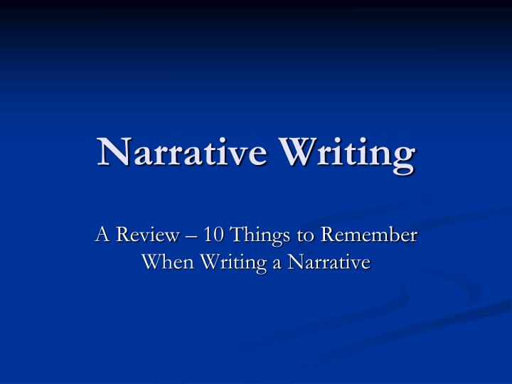 powerpoint presentation writing narrative essay