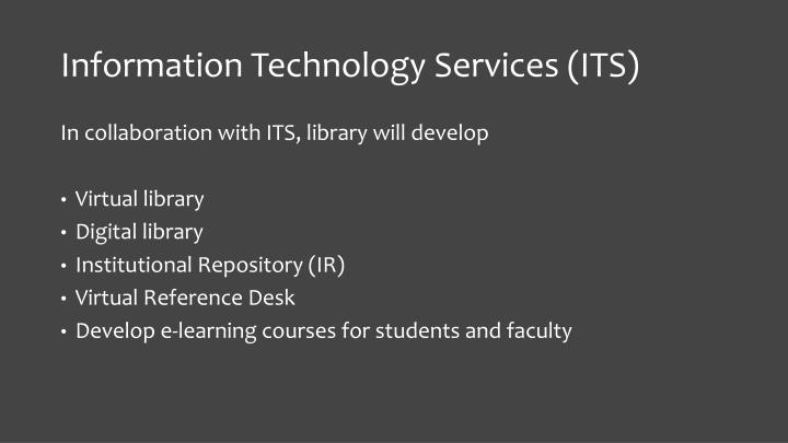 Information Technology Services (ITS