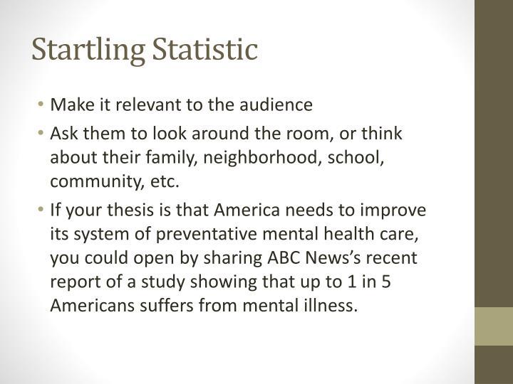 Startling Statistic