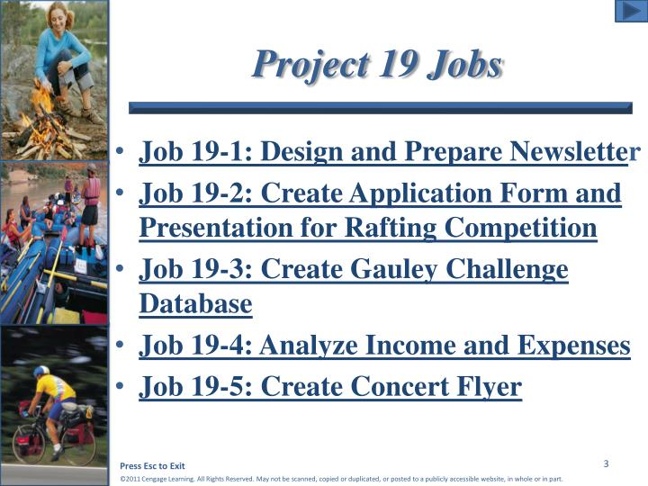 Project 19 jobs