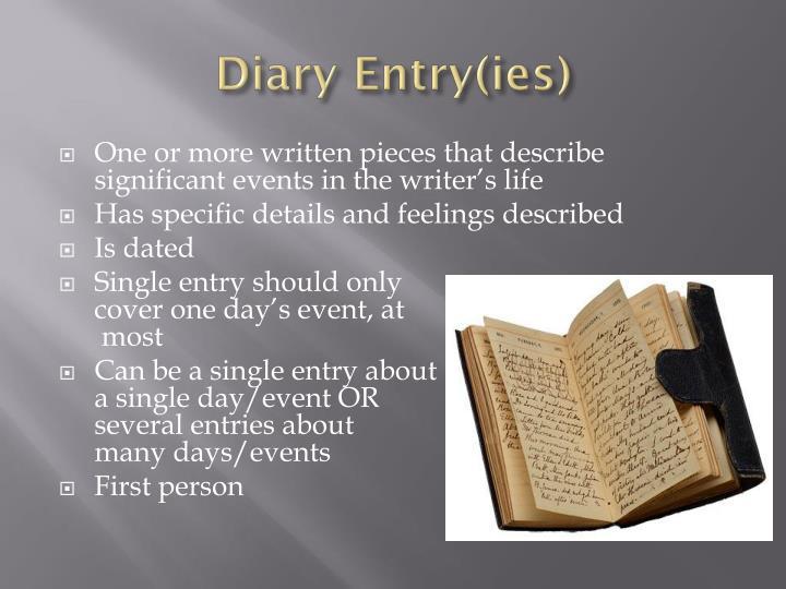 Diary Entry(