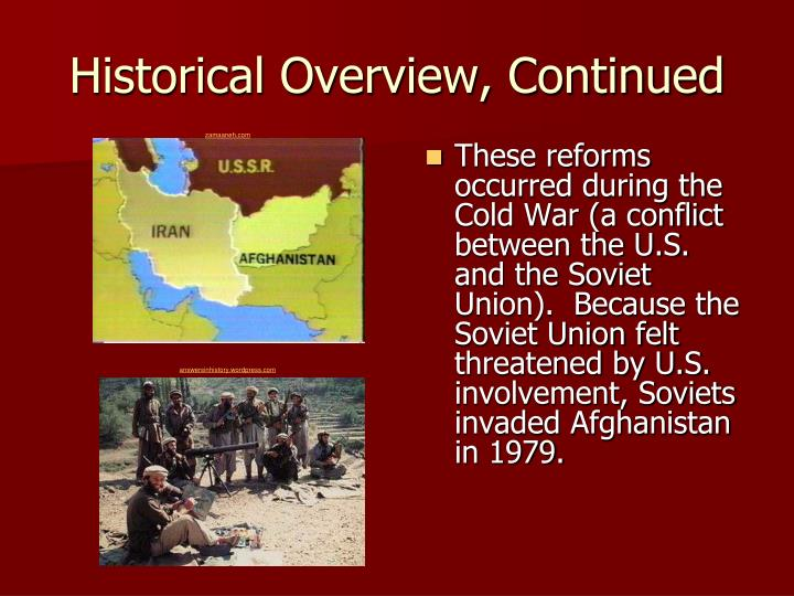 Historical Overview, Continued